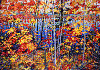Fall, Blind River - 32X48 Acrylic on Canvas