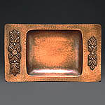 Tray - Raised copper,repoussé,patina,bees wax
